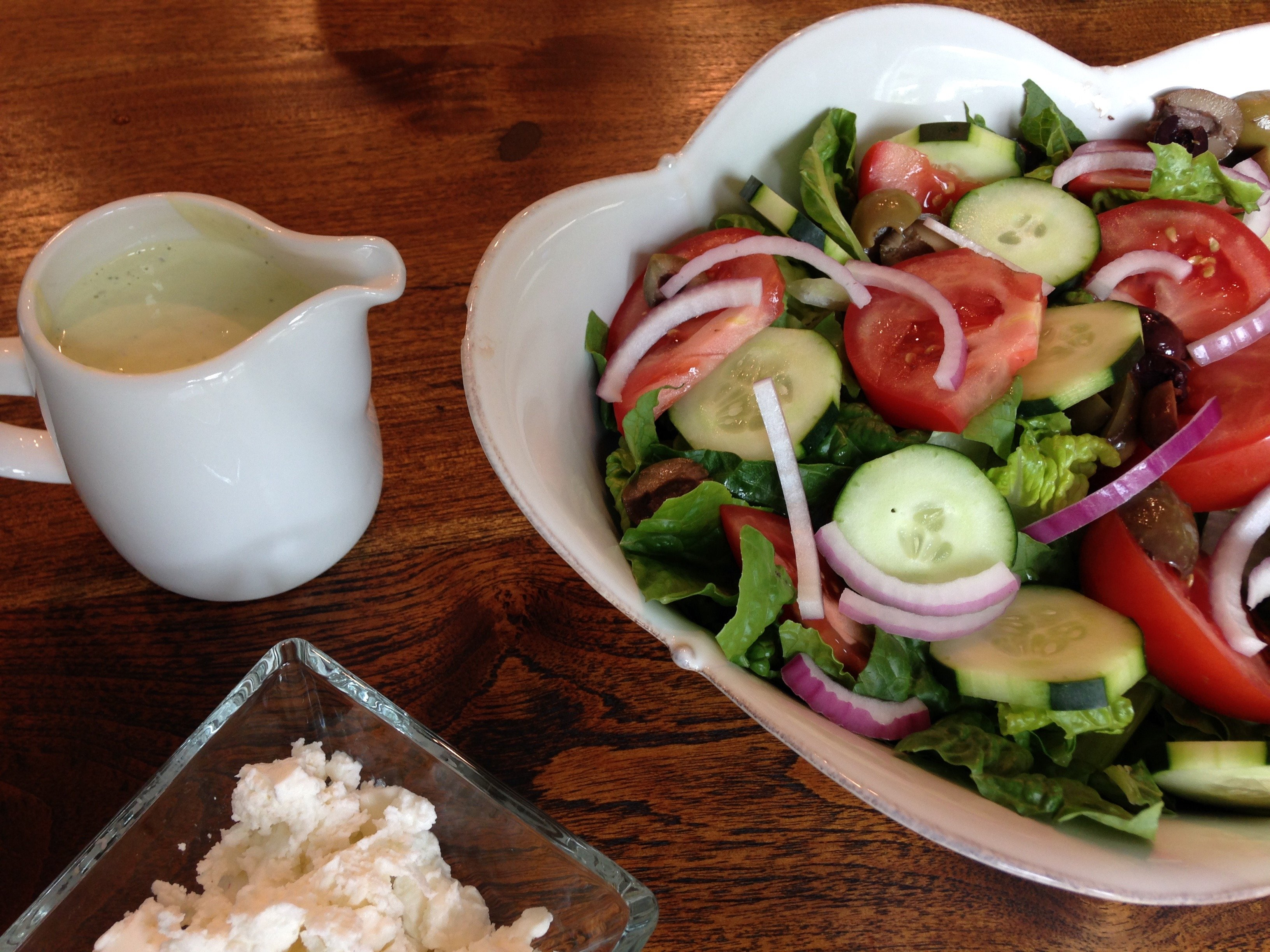 Greek Salad with Creamy Cashew-Dill Dressing