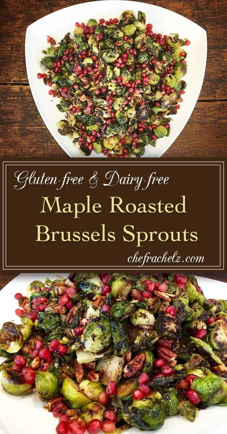 photo of maple roasted brussels sprouts