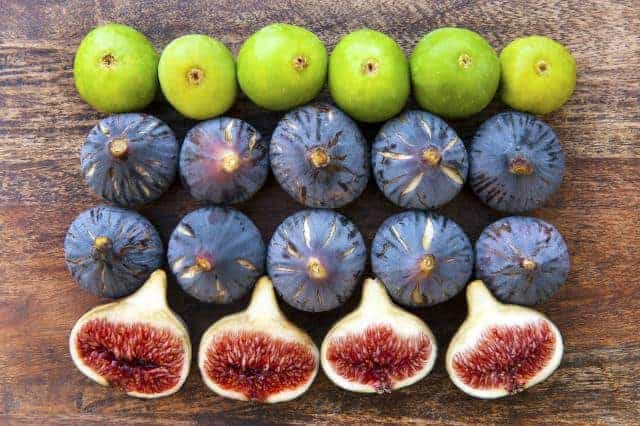 Varieties of ripe figs