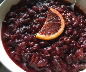 Fresh Cranberry Sauce with Orange and Ginger