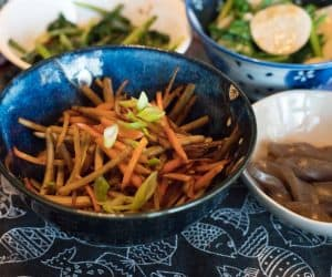 Macrobiotic Kinpira Root Vegetables