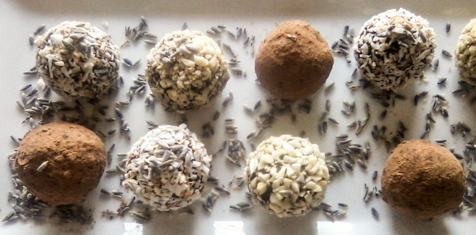 photo of chocolate coco truffles