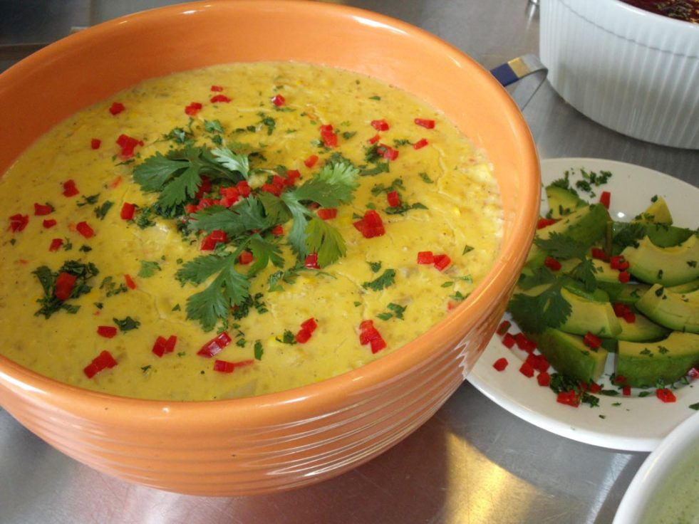 photo of creamy corn soup