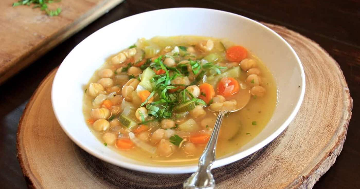 Italian Chickpea Soup •Cook Love Heal by Rachel Zierzow