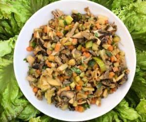 Asian Mushroom Lettuce Wraps (V, GF, soy-free)