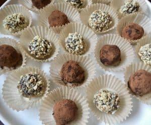 Dark Chocolate Almond Butter Truffles (vegan, gluten-free)