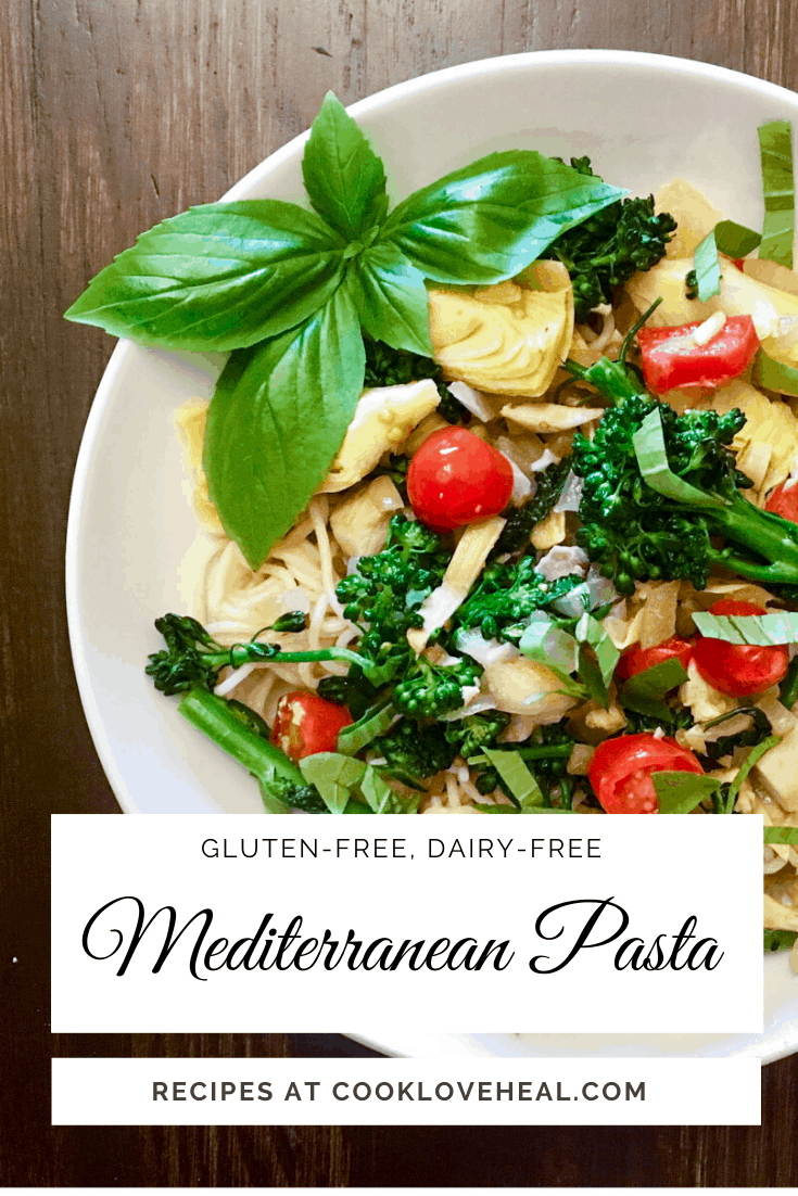 pinterest photo of Mediterreanean pasta dish